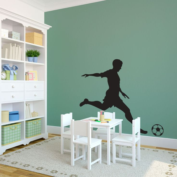 26 best images about soccer inspired room on pinterest for Sports decals for kids rooms