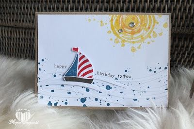 Magical Scrapworld: boat, cards, stampin' Up!, Swirly bird, Swirly scribbles, endless birthday wishes,