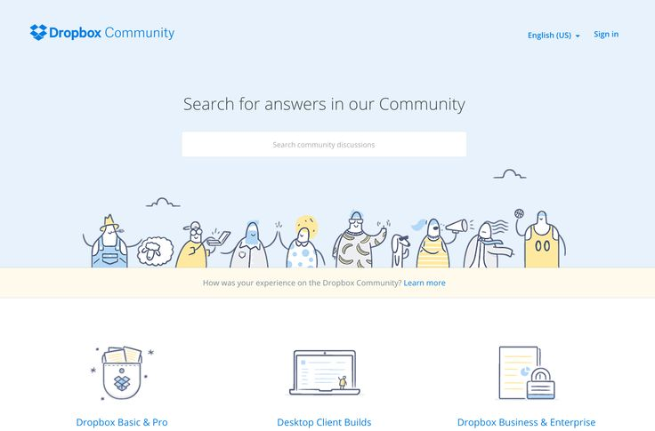 Building a community for their users on the Dropbox Help Center