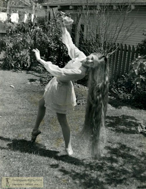 Rapunzel ~~~  Stan Shuttleworth - vintage photography of women with fabulously long hair