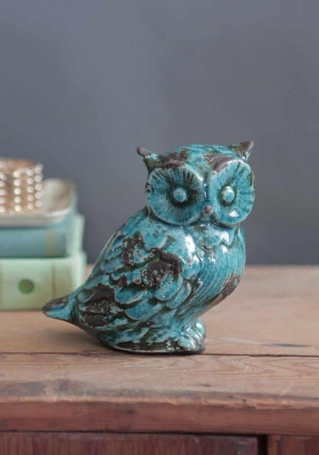 Wise Owl Decorative Statue Pinned By