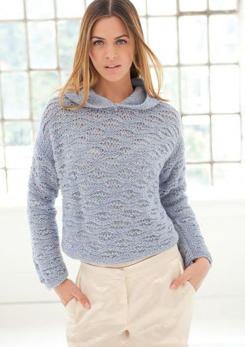 свитер спицами самое интересное в блогах джемпер вязание