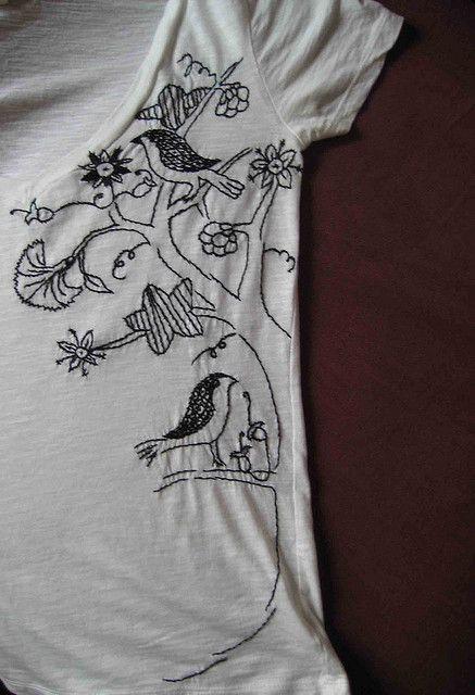 Blackwork Embroidery T-Shirt | Flickr - Photo Sharing!