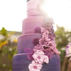 This incredibly gorgeous Purple Ombre cake was created by Kara from A Cake to Remember in Richmond, Virginia.