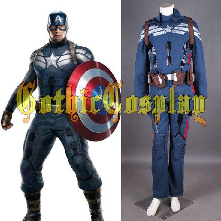 halloween costumes adult Captain America 2 the winter soldier Cosplay Costume superhero captain america costume adult steve suit