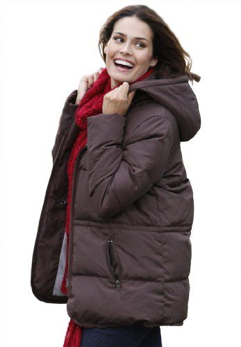 Woman Within Plus Size Jacket In Short Lightweight Feather Down