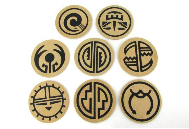 Suede Leather Southwestern Coasters, S/8