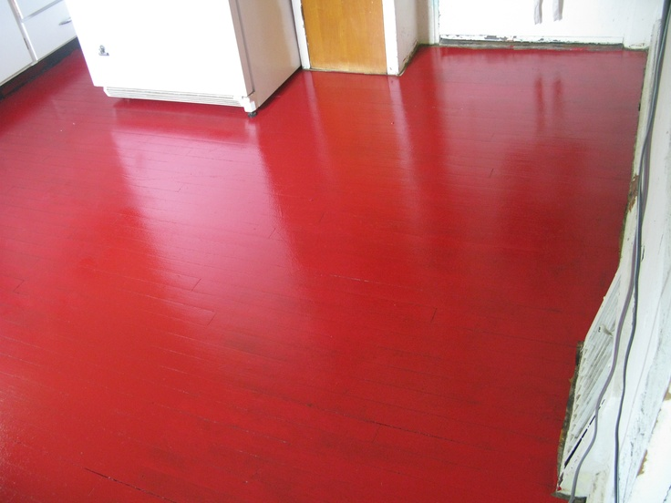 Glidden porch & floor (oil based) paint tinted Sherwin Williams Pompeii Red.    Red and Not-Red Floors   Pinterest   Porch flooring