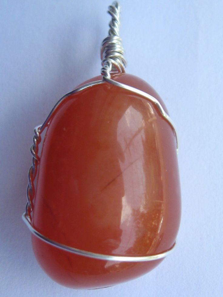 Carnelian agate pendant