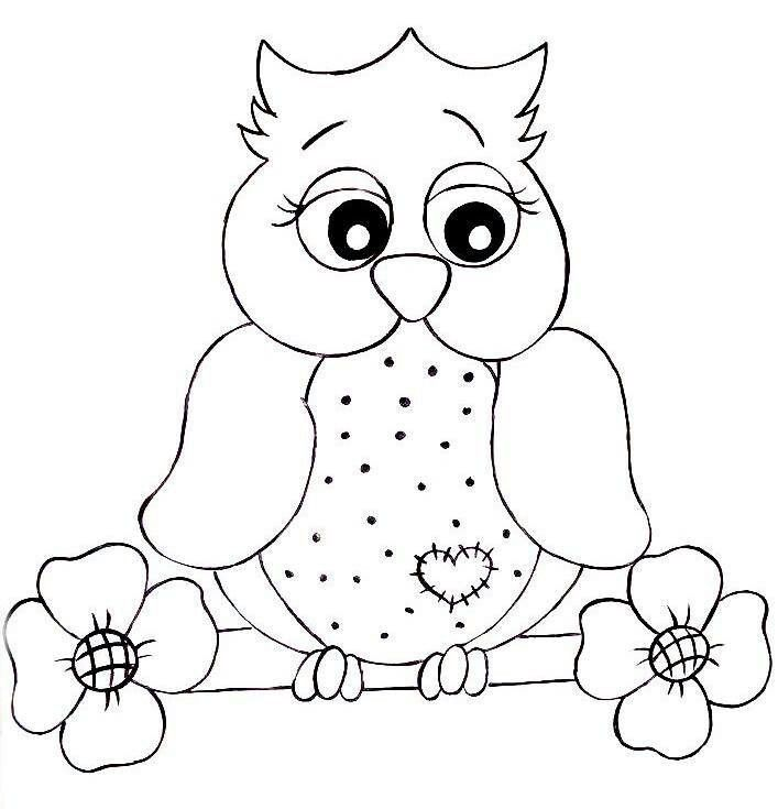 girly owl coloring pages - photo#18