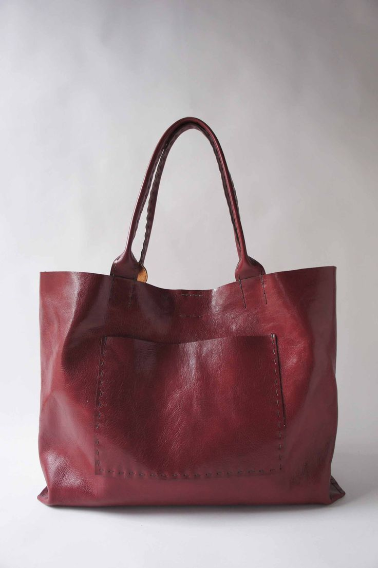 Sophie Truong follows the nature of the leather when she makes each bag by hand.  She will be exhibiting at the Smithsonian Craft2Wear, October 5-7.
