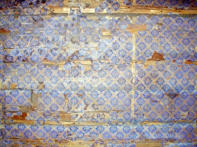Old wallpaper, Swedish farmhouse #wallpaper #old #blue #swedish