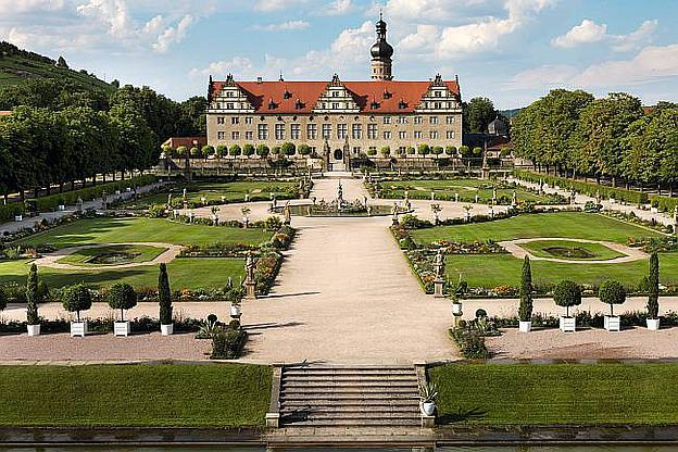 Schloss und Schlossgarten Weikersheim, D-97990 Weikersheim im Main-Tauber-Kreis, Baden-Württemberg. © SSG Pressebild