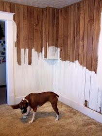 The cheater's guide to painting paneling.