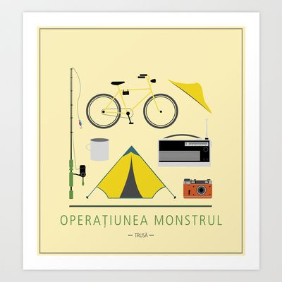 "ROMANIAN MOVIE ""OPERATIUNEA MONSTRUL"" Art Print by StudioSotron - $17.68"