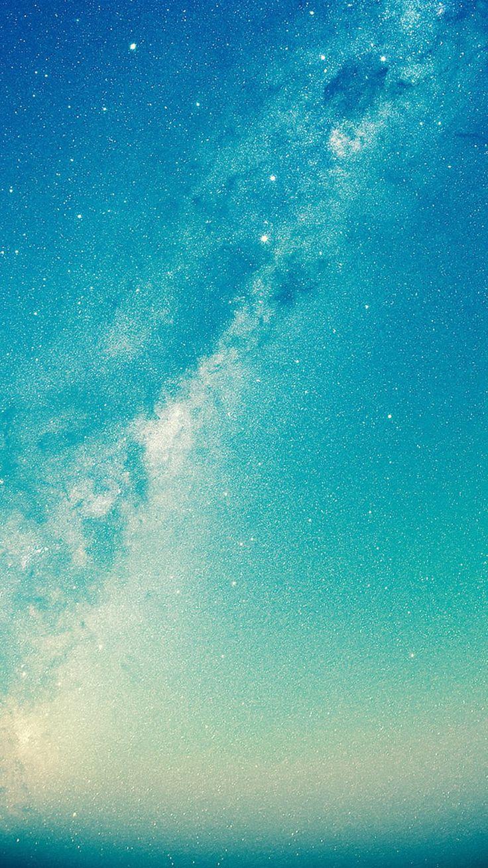 ↑↑ Tippen und erhalten Sie die kostenlose App! Weltraum-einfarbiges glänzendes blaues Funkeln spielt HD iPhone 5 Tapete die Hauptrolle