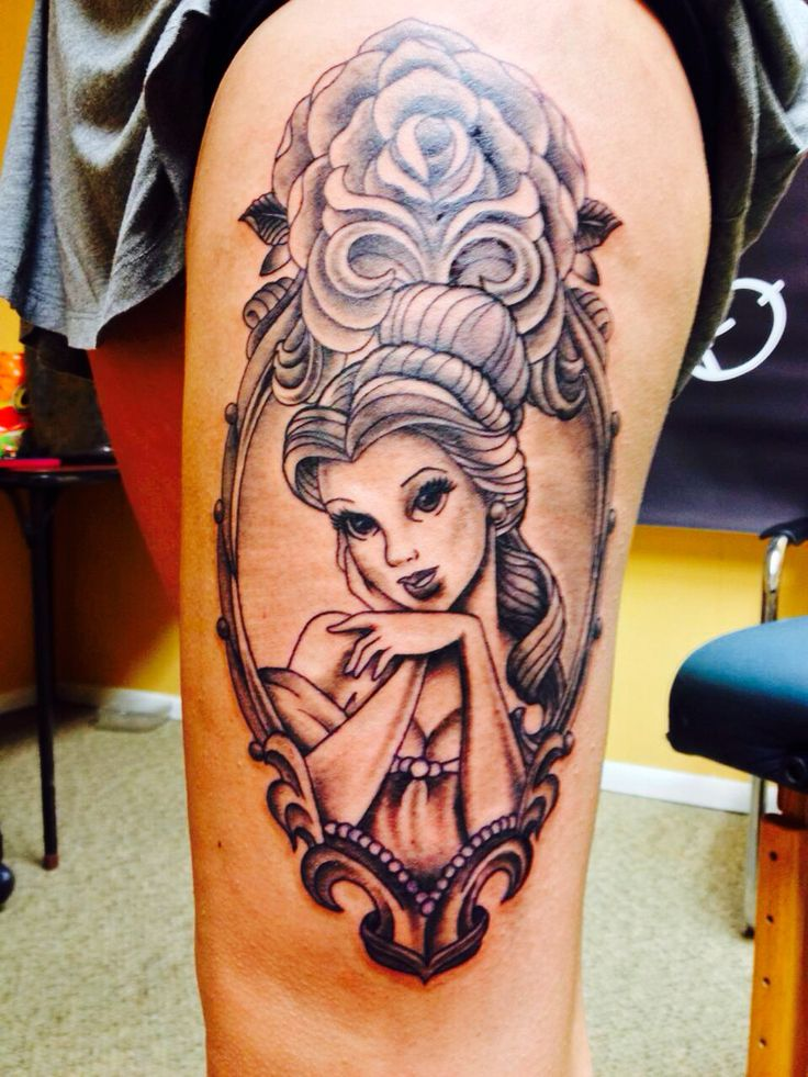 I finally have my Belle tattoo! :D -Beauty and the Beast