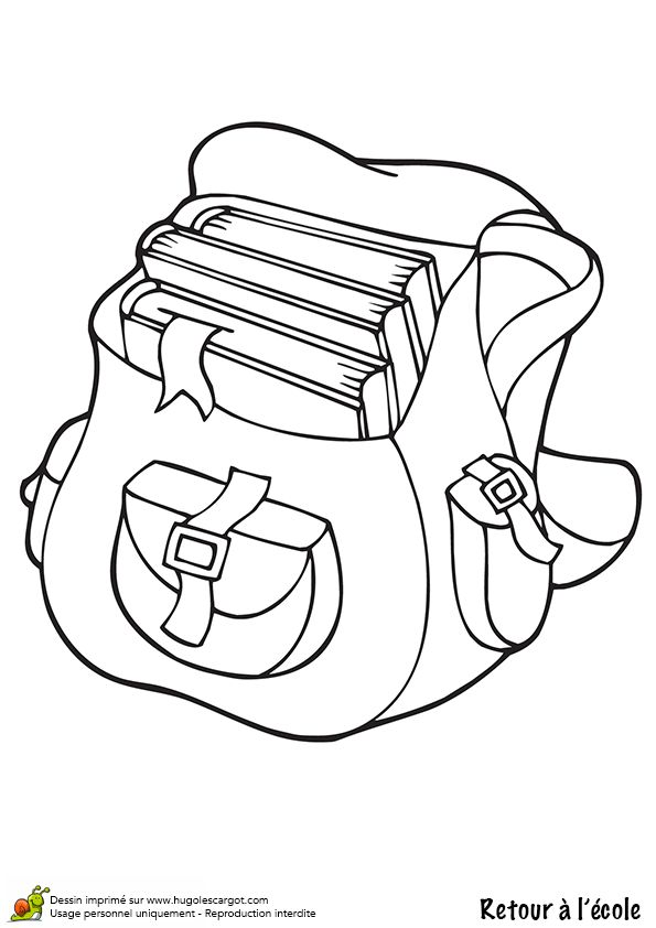7 best cartable images on pinterest coloring pages back to school and clip art - Cartable dessin ...