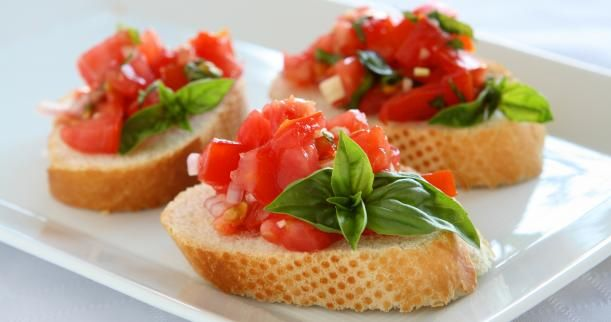 Bruschetta!  -Wedding appetizer ideas