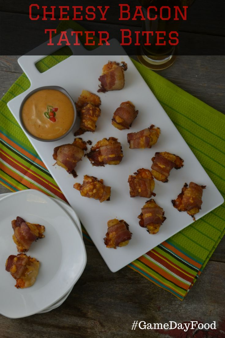 Kick up your #TaterTot game on #SuperBowl Sunday with these Cheesy Bacon Tater Bites made even better when you add #FranksRedHot. Make sure to make lots of these because trust us, they won't last long on #GameDay. #GameDayFood #FootballFood