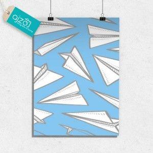 Plakat papierowe samoloty 50x70cm