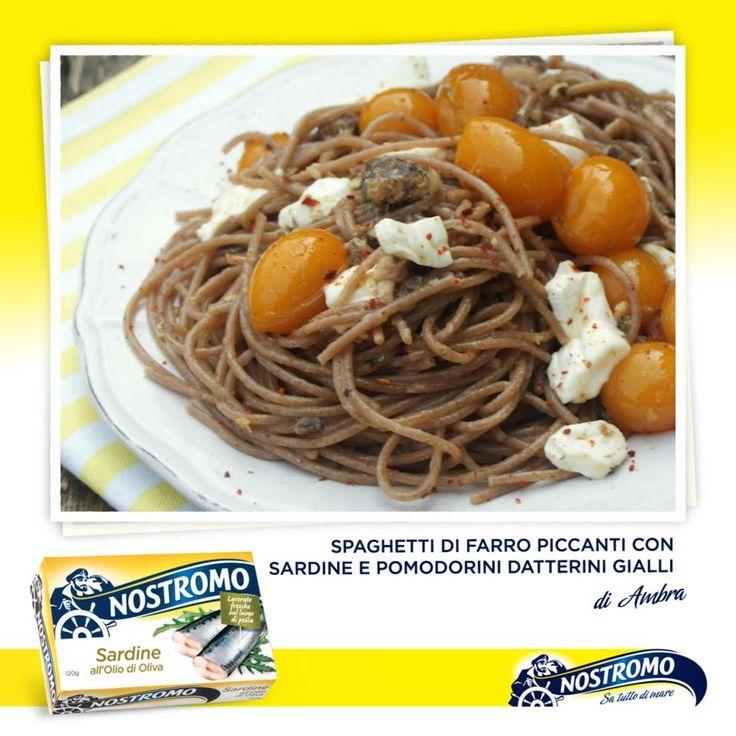 Avete già pensato a cosa mangerete per pranzo? Ecco una ricetta veloce e molto gustosa: spaghetti di farro piccanti con sardine e pomodorini datterini gialli, suggerita dalla nostra amica Ambra: http://gattoghiotto.blogspot.it/2012/09/come-salvare-una-cena-facendo-la-spesa.html  Altre ricette sulla pagina del Nostromo: https://www.facebook.com/media/set/?set=a.396219537093414.144617.381585958556772&type=3  #farro #pomodori #spaghetti #sardine #datteri #ricetta #recipe