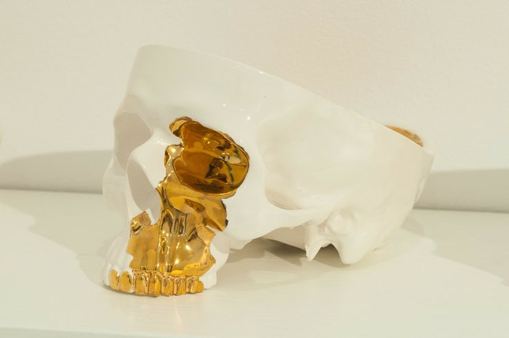 Stefan Nikolaev What Does Not Kill You Makes You Stronger  [2013]  Enamelled ceramic, gold-plated parts 12 × 13 × 20 cm (4.7 × 5.1 × 7.9 inch) Estimate €800 - €1,200  http://lavacow.com/what-does-not-kill-you-makes-you-stronger.html