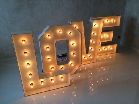 Объемные буквы своими руками с подсветкой - YouTube