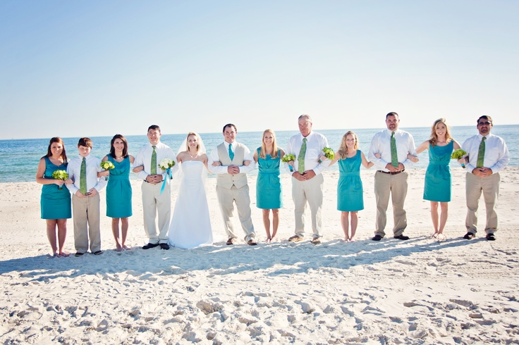 Styling Tips For Embracing A Beach Wedding Theme: Beach Wedding Bridal Party