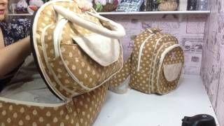 Como fazer uma mochila maternidade,para carregar coisas de bebê   Cantinho do Video
