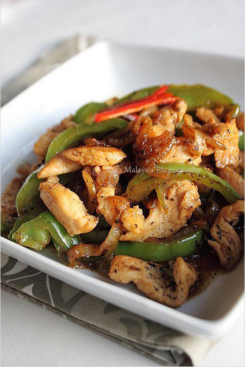Black Pepper Chicken Recipe | Yummy..... | Pinterest