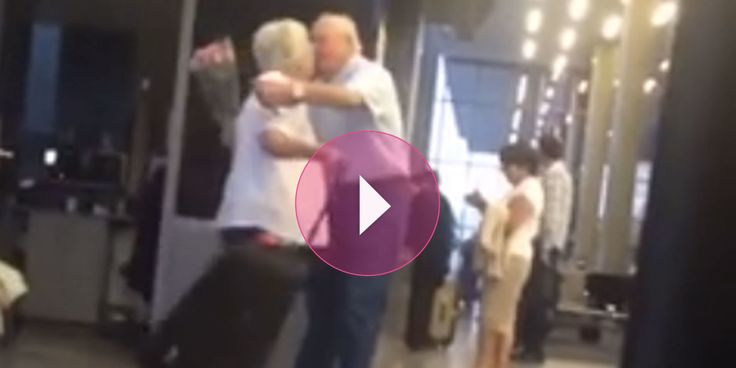 The Way This Old Man Greets the Love of His Life at the Airport Will Absolutely Melt You