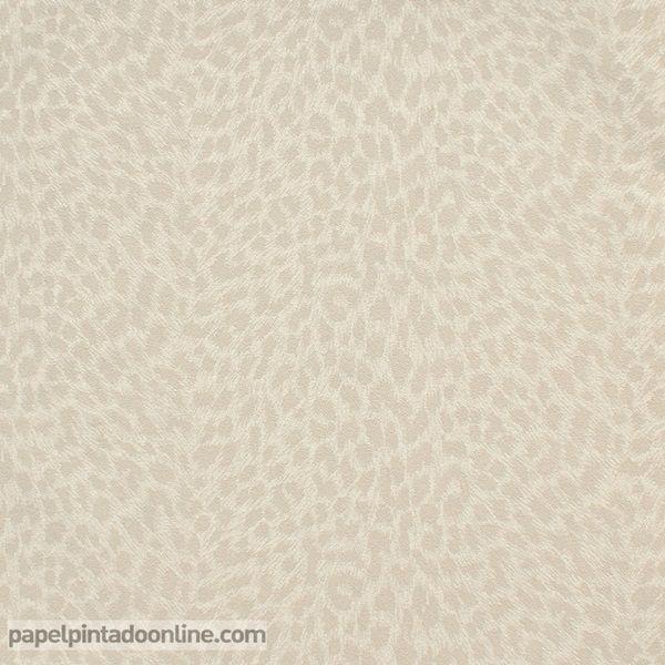 Papel Pintado Curiosity CRY_6544_60_66, papel de imitación leopardo en tonos de beige.
