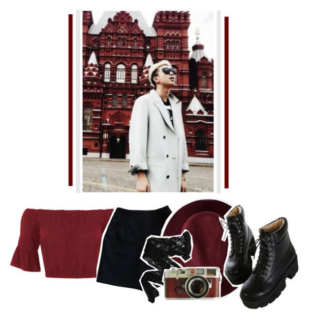 """""""kim namjoon."""" by nikecrie on Polyvore featuring Miss Selfridge, Redopin, Wolford, Leica and Dr. Martens"""