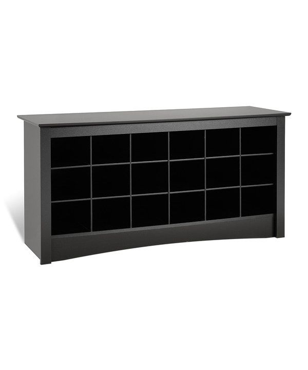 Take a look at this Black Shoe Cubby Bench on zulily today