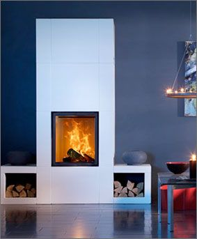 images of rooms with modern wood stoves | The modern masonry stove is energy efficient and has a high level of ...