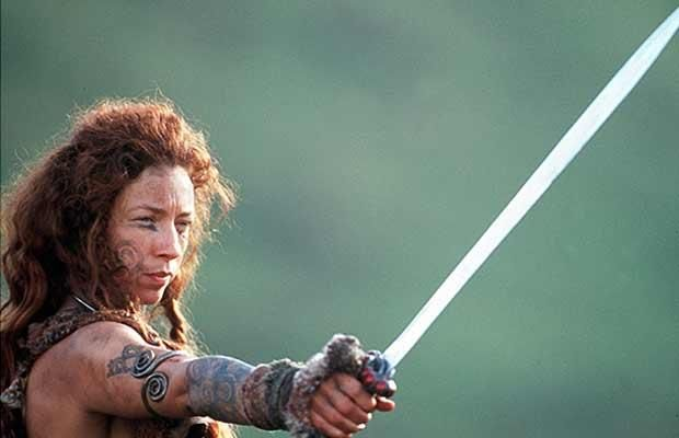 Alex Kingston as Boudica in the movie Warrior Queen. Most known for River Song on Doctor Who.