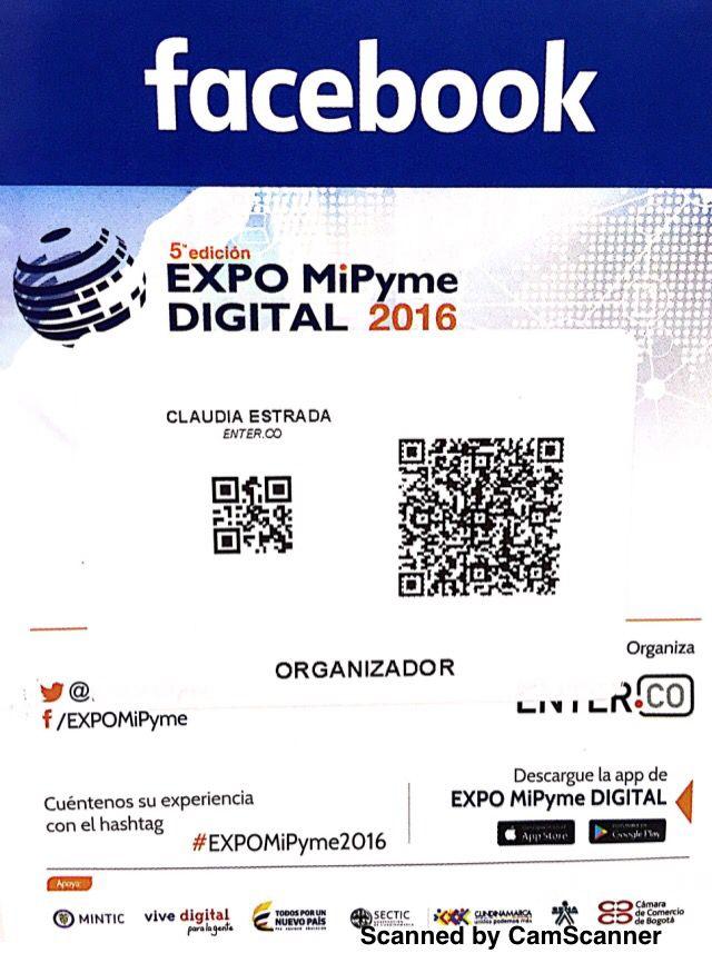 @EXPOMiPyme Los esperamos hoy y mañana: Feria especializada en la actualización tecnológica de las Pymes. Corferias,