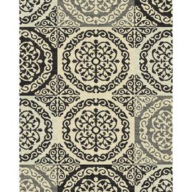 Style Selections Gabany Rectangular Cream Transitional Woven Area Rug (Common: 8-ft x 10-ft; Actual: 7.83-ft x 9.83-ft)