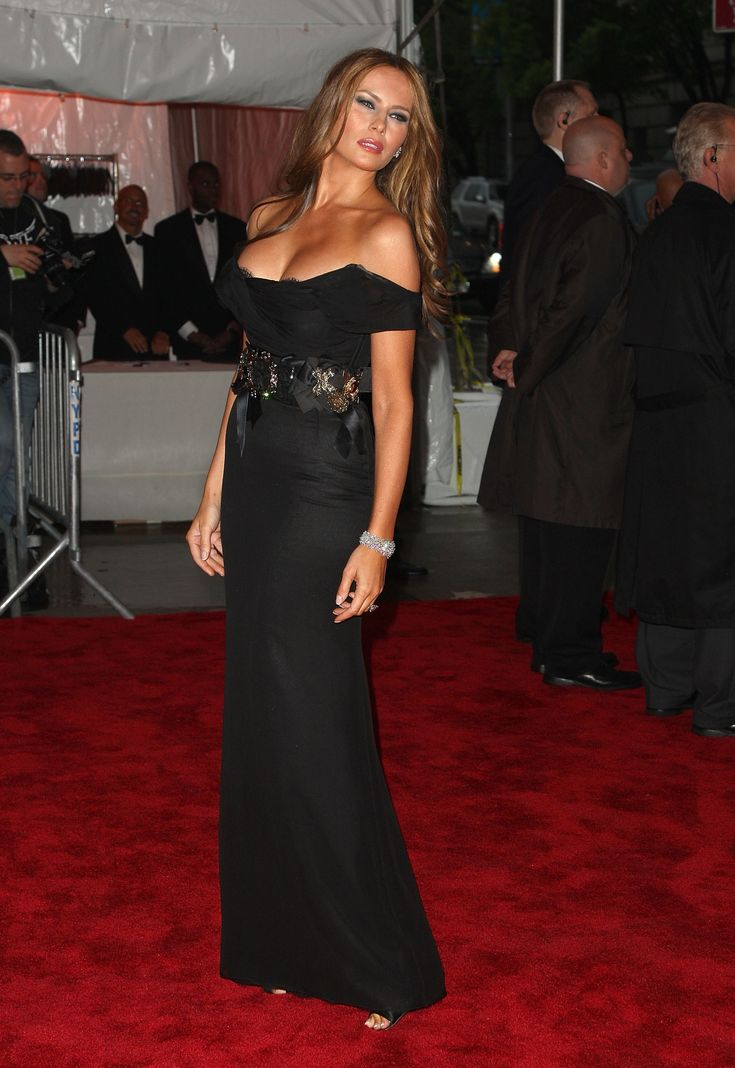 evening black dress melania trump | Looks - Dresses ...