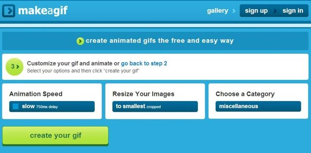 Make a Gif, aplicación gratuita para hacer gifs online