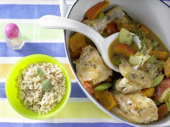 Chicken Stewed with Pumpkin   Eat Smarter