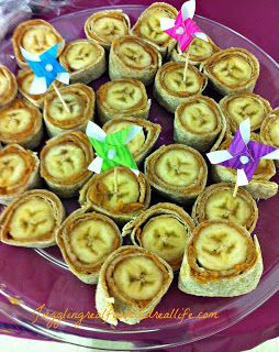 Peanut Butter Banana Wrap - Monkey Bites