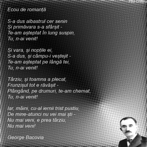 Ecou de romanta -  George Bacovia