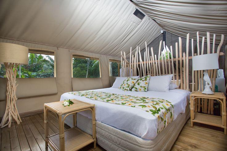 Our most exclusive room, The Ariki (King) Tent    Glamping, Ikurangi Eco Retreat Rarotonga, Cook Islands, Honeymoon, wedding, romantic holiday www.ikurangi.com
