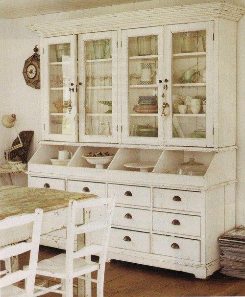 Freestanding Kitchen Cabinets, Kitchen Storage Ideas, Furniture In The  Kitchen, Hutch, Antique