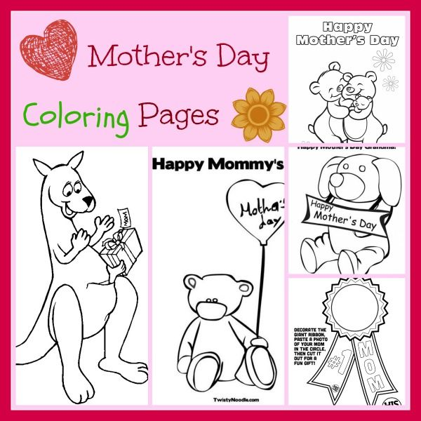 just in time for mothers day print off these adorable mothers day coloring pages to