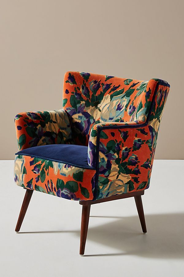 Velvet Tanya Petite Accent Chair In 2020 Accent Chairs Colorful