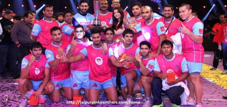 Jaipur Pink Panthers is a professional kabaddi team based in Jaipur, Rajasthan that competes in the Pro Kabaddi League. Jaipur Pink Panthers are the champions of the first season of the Pro Kabaddi League in 2014.