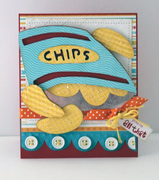 All that and a bag of Chips card using Cricut Lite Fast Food